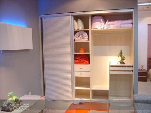 书柜衣柜连体图图片大全 衣柜和书架连体,功能俱全