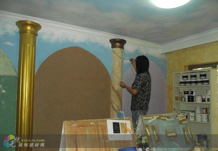壁纸漆仿大理石施工